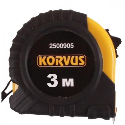 Рулетка 3м*16мм (обрезиненный корпус) 2500903