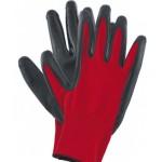 Перчатки полиэфирные Stels с черным нитрильным покрытием маслобензостойкие, L, 15 класс вязки