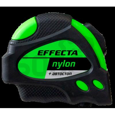 """Рулетка 10м*25мм """"EFFECTA"""" Nylon (автостоп, 2 магнита, боковые зацепы)"""