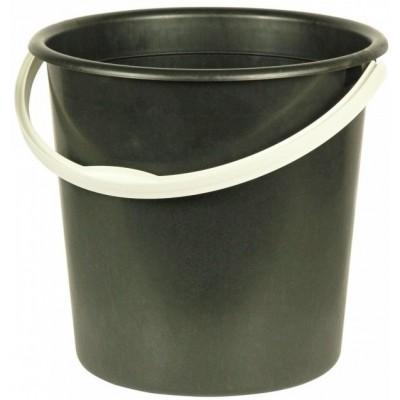 Ведро 10л. (2 сорт) цвет черный (М2057)