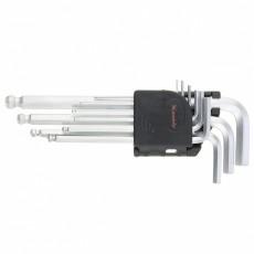 Набор ключей имбрусовых 1,5-10 мм удлиненные с шаром (9шт) CrV 11233