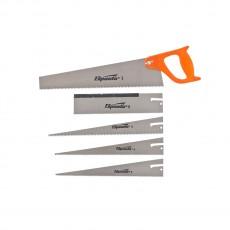 Ножовка по дереву 350 мм, 5 сменных полотен, пластиковая рукоятка 231255