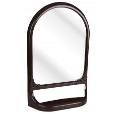 Зеркало с полкой (темно-коричневый)