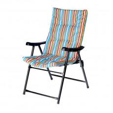 Кресло дачное складное мягкое Релакс 47х57х90 см Твой Пикник сине-зеленая полоска GB-013
