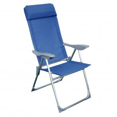 Кресло-шезлонг складное Твой Пикник 38х58х110 см синий GB-009
