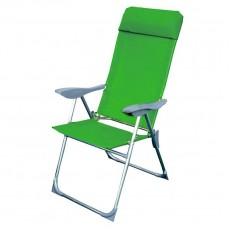 Кресло-шезлонг складное Твой Пикник 38х58х110 см зеленый GB-009