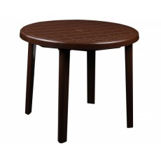 Стол круглый 900х900х750 мм коричневый