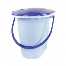 Ведро-туалет 18л голубой (М1316)