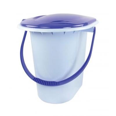 Ведро-туалет 17л голубой (М1320)