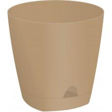 Горшок для цветов AMSTERDAM D 250 с прикорневым поливом (8 литров) Молочный Шоколад