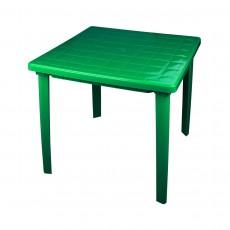 Стол квадратный 800х800х740 мм (зелёный) М2596
