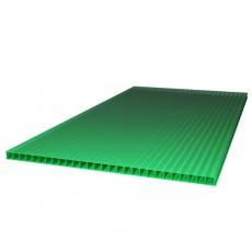 """Сотовый поликарбонат """"ULTRAMARIN"""" 4 мм (2100*6000) зеленый"""