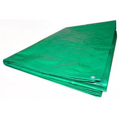 Тент из полиэтиленовой ткани зеленый ТЗ-120 6м*8м
