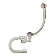 ОРИО сифон для ванны 1 1/2 х 40 полуавтоматической регулировкой с переливом и гибкой трубой 40/50