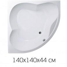 Ванна на раме 1Marka Cassandra 140x140, без фронтальной панели, без слива-перелива