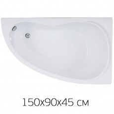 Ванна на раме Bas ALEGRA 150 х 90 (правая) без фронтальной панели, БЕЗ сифона