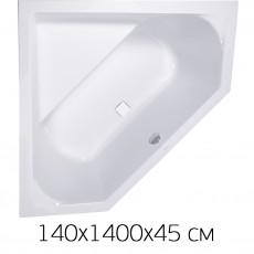 Ванна акриловая VAGNERPLAST CAVALLO CORNER 140х140 без фронтальной панели, без слива-перелива
