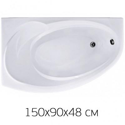 Ванна на раме Bas Fantasy 150*90 (прав) без фронтальной панели, БЕЗ сифона, без гидромассажа