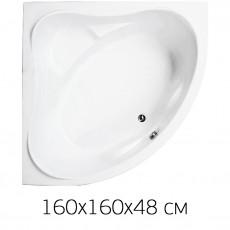 Ванна на раме Bas MEGA 160*160 без фронтальной панели, БЕЗ слива, без гидромассажа