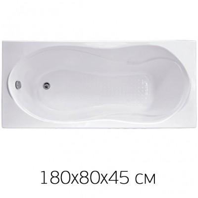 Ванна на раме Bas YAMAIKA 180*80 без фронтальной панели, БЕЗ сифона