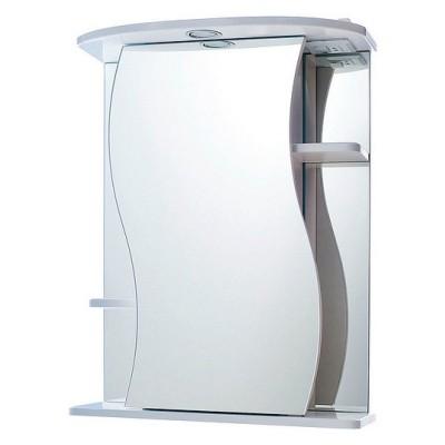 """Зеркало """"Лира 55"""" белый со светильником"""