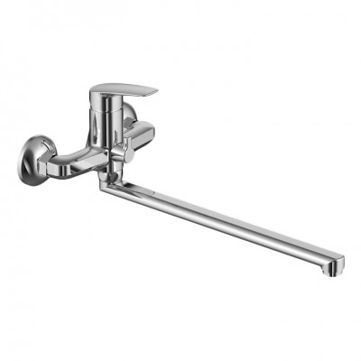 Смеситель для ванны с длинным изливом и керамическим дивертором Milardo Niagara NIASBLCM10