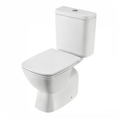 Унитаз Сантек Нео стандарт безободковый 2-режима., дюропласт, метал крепеж, softclose SLIM 1WH302418