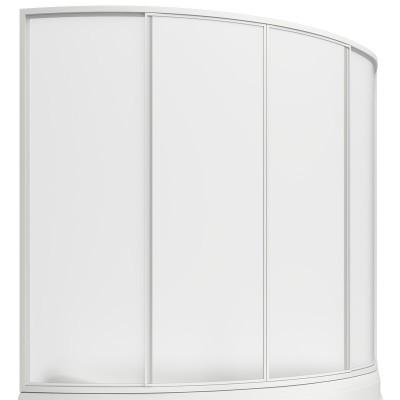 Шторка для ванны Вектра 150 см, 4 створки, пластик Watter, BAS