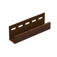 J-планка Ю-Пласт, коричневый, длина 3,05м (1 уп=20шт.)