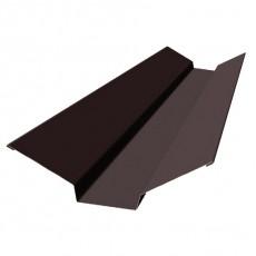 Планка ендовы верхняя 76х76х2000мм, ПЭ0,4мм, RAL8017 (коричневый)