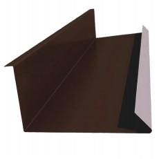 Планка примыкания нижняя 250х122х2000мм, ПЭ0,4мм, RAL8017 шоколад