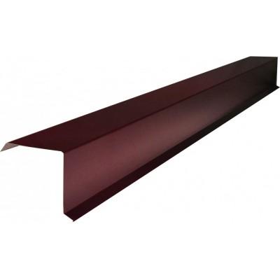 """Планка торцевая для """"SHINGLAS"""" PE 70х20х80х15х2000 мм (RAL3005 вишня)"""