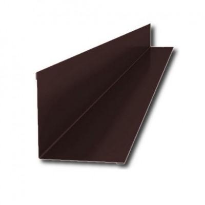 Планка примыкания верхняя 250х147х2000мм, ПЭ0,4мм, RAL8017 (коричневый)