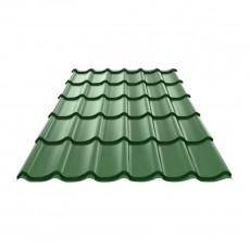 Металлочерепица Монтеррей/Ламонтерра ПЭ-RAL6005 зеленый мох, 0,4мм (1,19х1,2м)