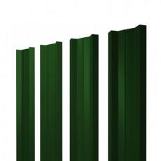 Штакетник М-образный односторонний RAL 6005 зеленый мох  h=1,2 м