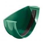 Заглушка желоба водосточного ТН ПВХ зелёный