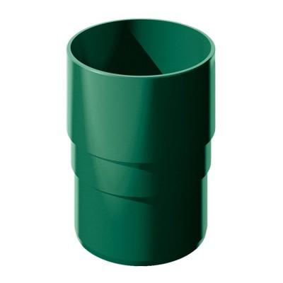 Муфта трубы водосточной ТН ПВХ зеленый