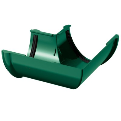 Угол желоба водосточного 90° ТехноНИКОЛЬ ПВХ зеленый