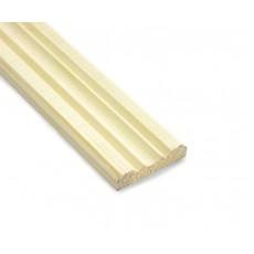 Раскладка деревянная фигурная 8х40х2500мм хвоя