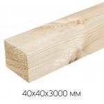 Брусок естественной влажности, обрезной 40х40х3000 сорт 1-2 (0,0048м3/шт)
