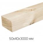 Брусок естественной влажности, обрезной 50х40х3000 сорт 1-2 (0,006м3/шт)