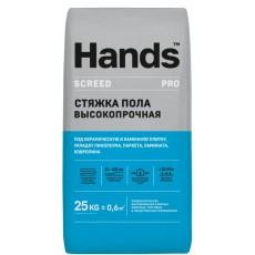 """Ровнитель (основа) для пола """"Hands"""" Screed PRO 25кг (20-200мм) /64"""