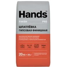 Шпаклевка гипсовая белая Hands Finish PRO 20 кг (0,3-5 мм)
