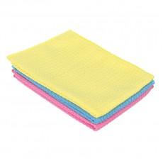 Набор салфеток из микрофибры 2 шт. универсальные махровые, 30х30см, 300г/кв.м 3 цвета VETTA 3806
