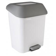 """Контейнер для мусора, с педалью """"Квадра"""" 15 литров (белый)"""