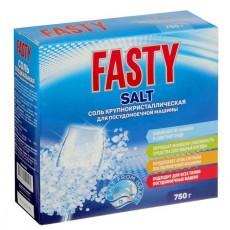 Чистящее средство Fasty для посудомоечных машин, соль, 750 г