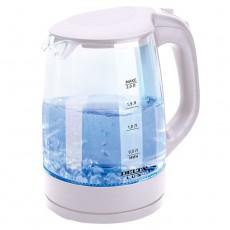 Чайник DELTA LUX DL-1058B корпус из жаропр. стекла, черный: 2200Вт, 2л (Россия)(8)
