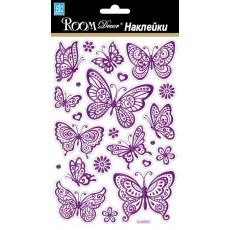 Стикер 6303 Сиреневые бабочки-мини CLA
