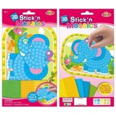 3505 Мозаика-слоненок Стикер РВА