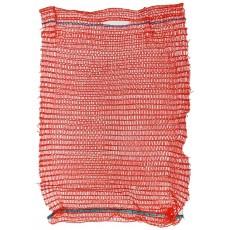 Сетка-мешок 50*80 с завязками вместимость 35-40кг красный